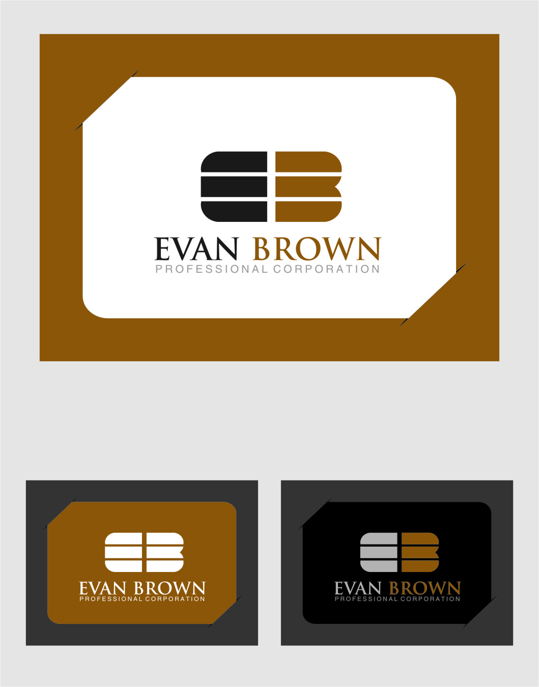 Logo Design by RasYa Muhammad Athaya - Entry No. 161 in the Logo Design Contest Inspiring Logo Design for Evan Brown Professional Corporation.