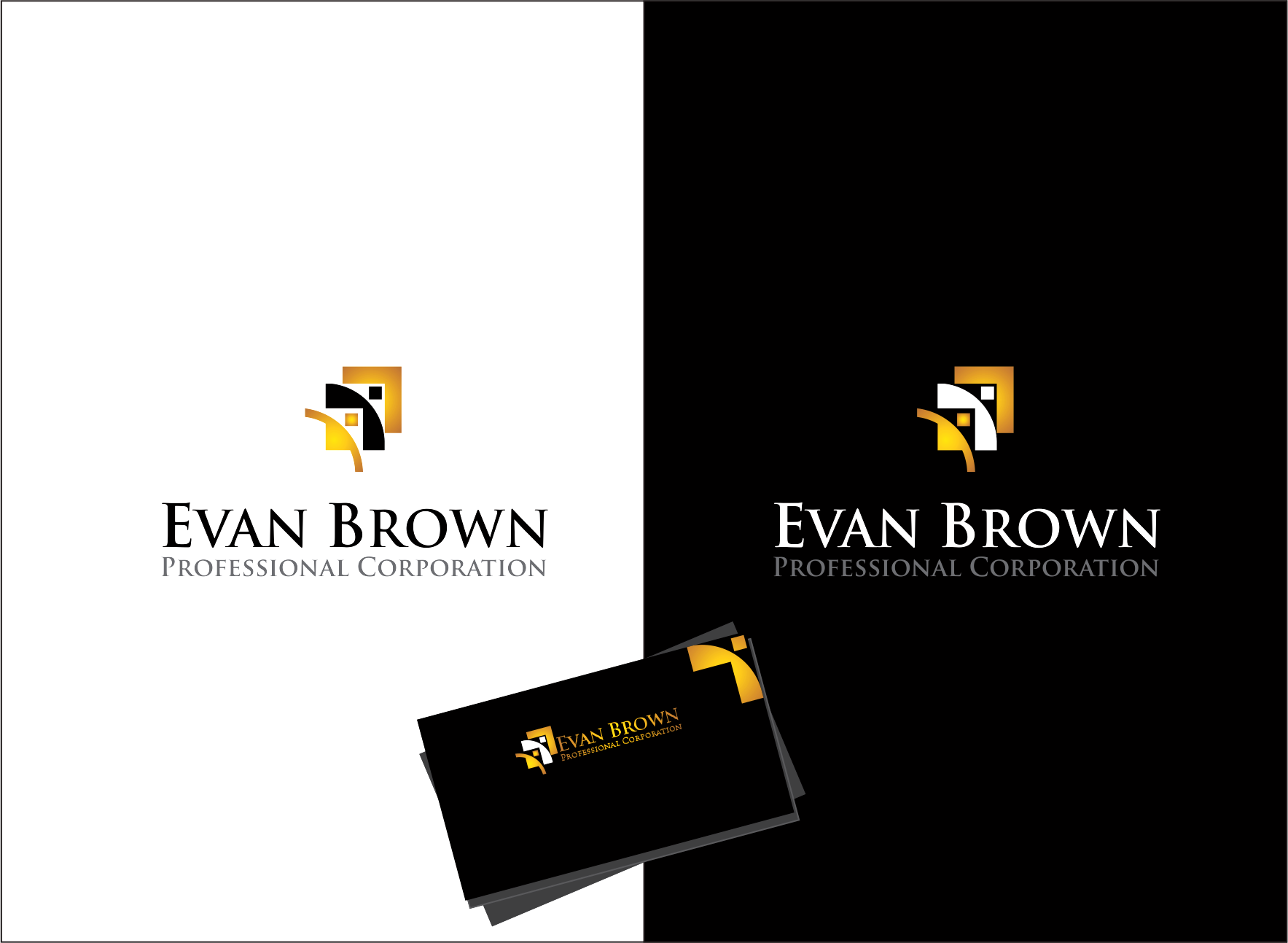 Logo Design by Armada Jamaluddin - Entry No. 164 in the Logo Design Contest Inspiring Logo Design for Evan Brown Professional Corporation.