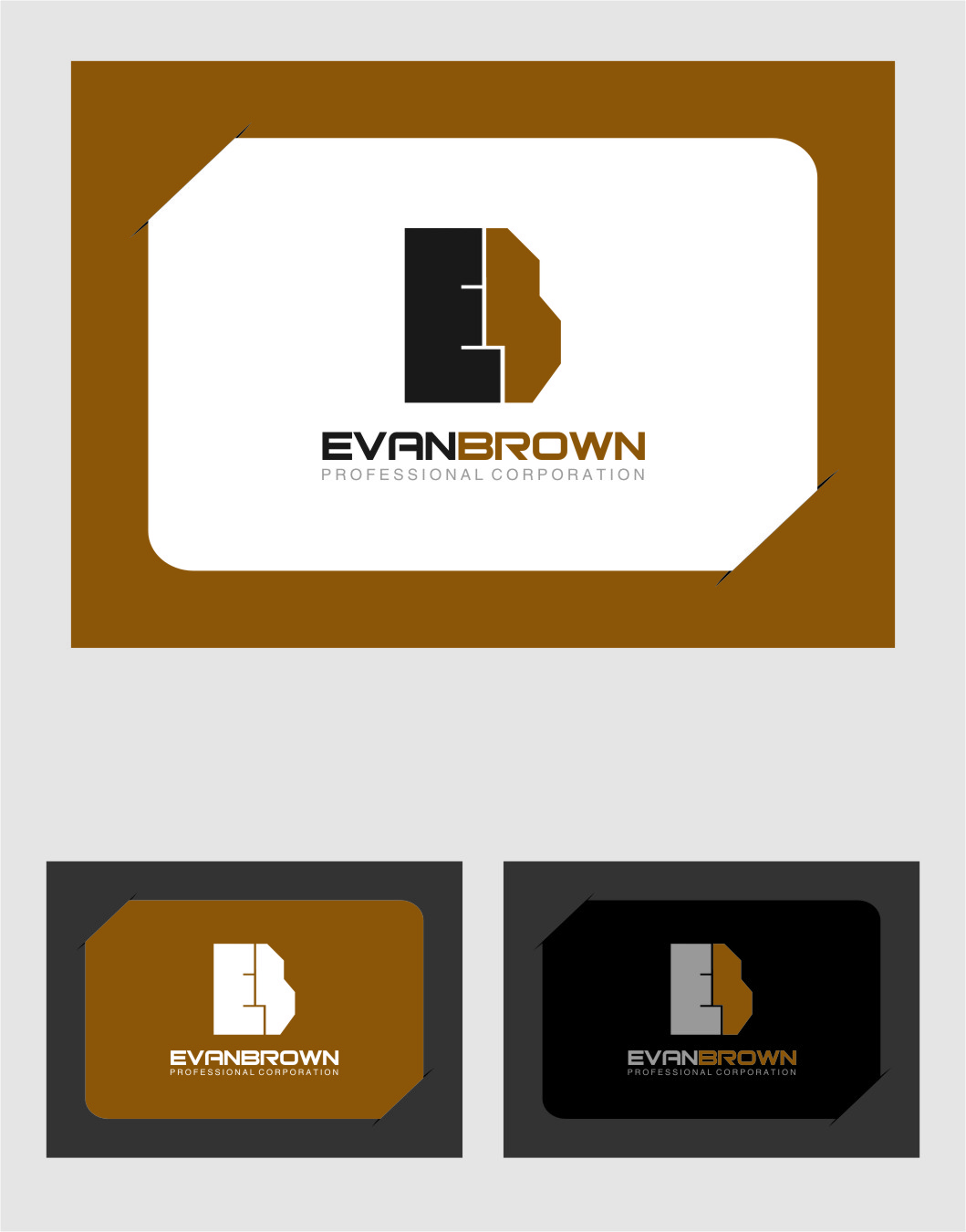 Logo Design by Ngepet_art - Entry No. 165 in the Logo Design Contest Inspiring Logo Design for Evan Brown Professional Corporation.
