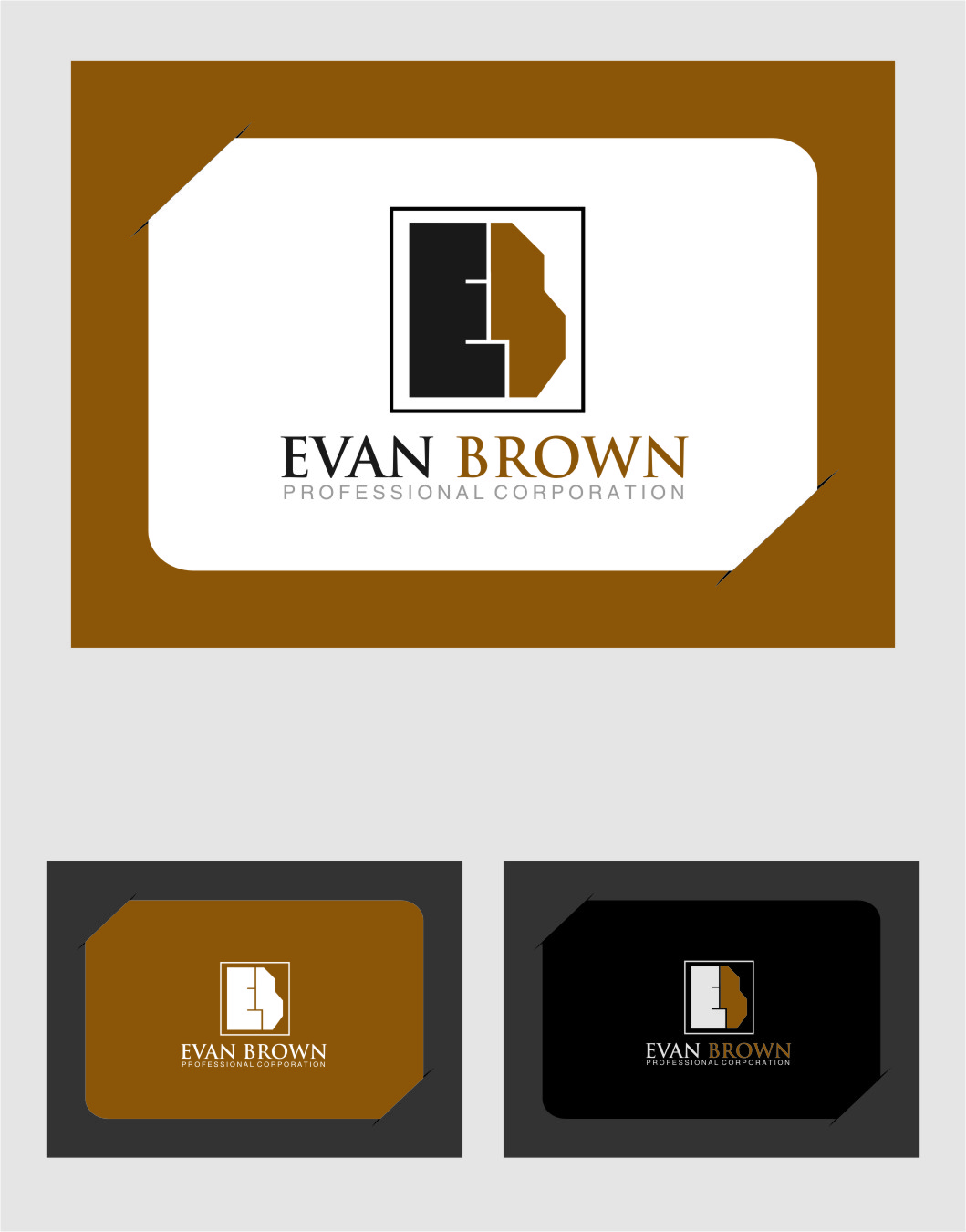 Logo Design by Ngepet_art - Entry No. 167 in the Logo Design Contest Inspiring Logo Design for Evan Brown Professional Corporation.