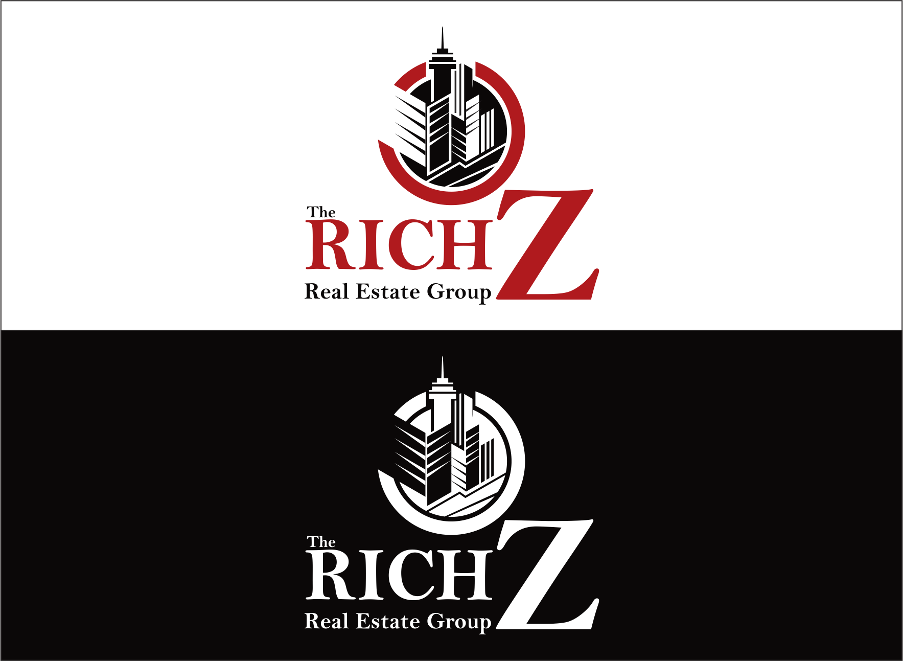 Logo Design by Armada Jamaluddin - Entry No. 410 in the Logo Design Contest The Rich Z. Real Estate Group Logo Design.