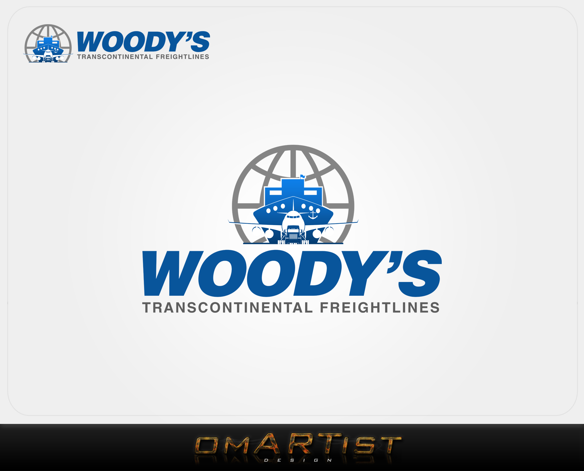 Logo Design by omARTist - Entry No. 1 in the Logo Design Contest Creative Logo Design for Woody's Transcontinental Freightlines.