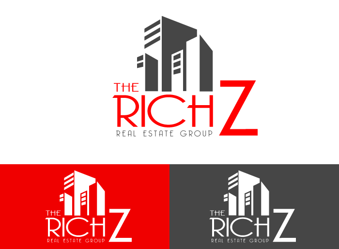 Logo Design by Jan Chua - Entry No. 412 in the Logo Design Contest The Rich Z. Real Estate Group Logo Design.