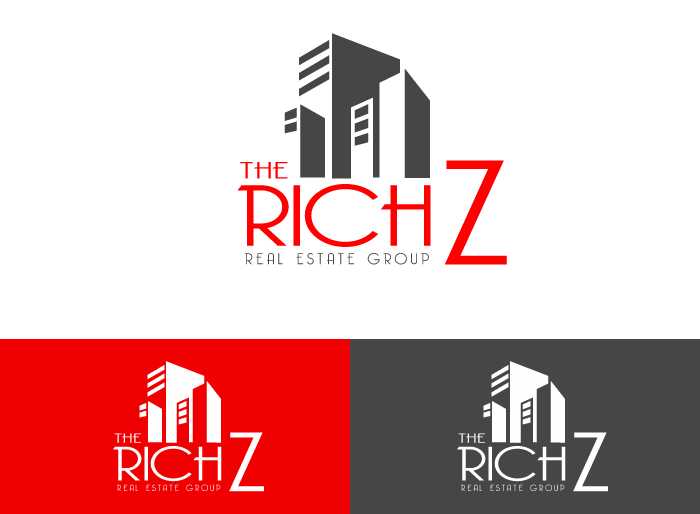 Logo Design by Jan Chua - Entry No. 413 in the Logo Design Contest The Rich Z. Real Estate Group Logo Design.