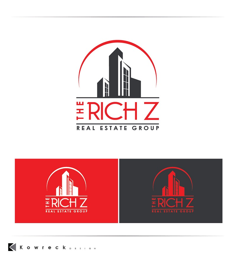 Logo Design by kowreck - Entry No. 418 in the Logo Design Contest The Rich Z. Real Estate Group Logo Design.