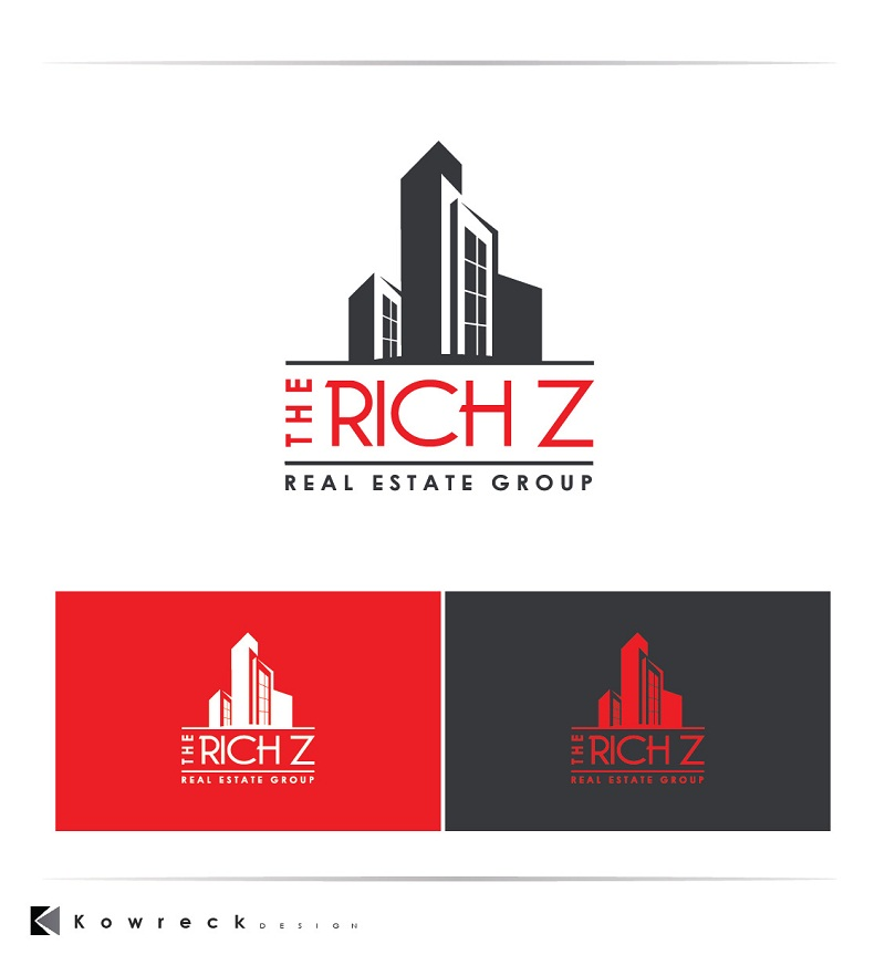 Logo Design by kowreck - Entry No. 419 in the Logo Design Contest The Rich Z. Real Estate Group Logo Design.