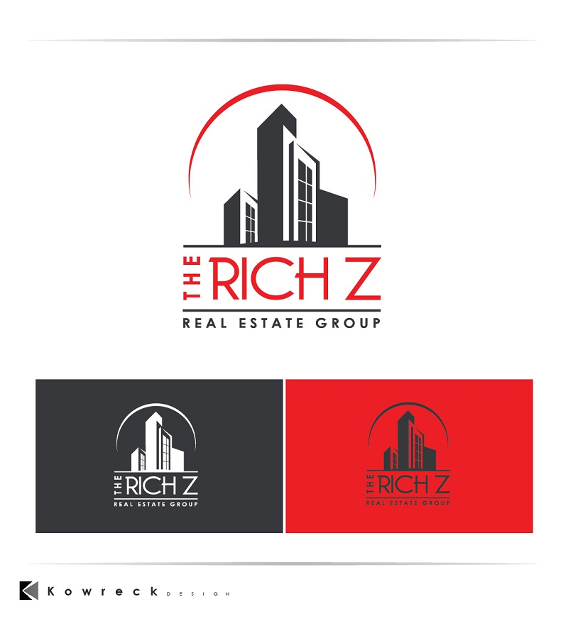 Logo Design by kowreck - Entry No. 420 in the Logo Design Contest The Rich Z. Real Estate Group Logo Design.
