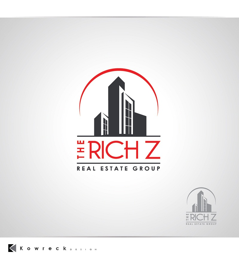 Logo Design by kowreck - Entry No. 421 in the Logo Design Contest The Rich Z. Real Estate Group Logo Design.