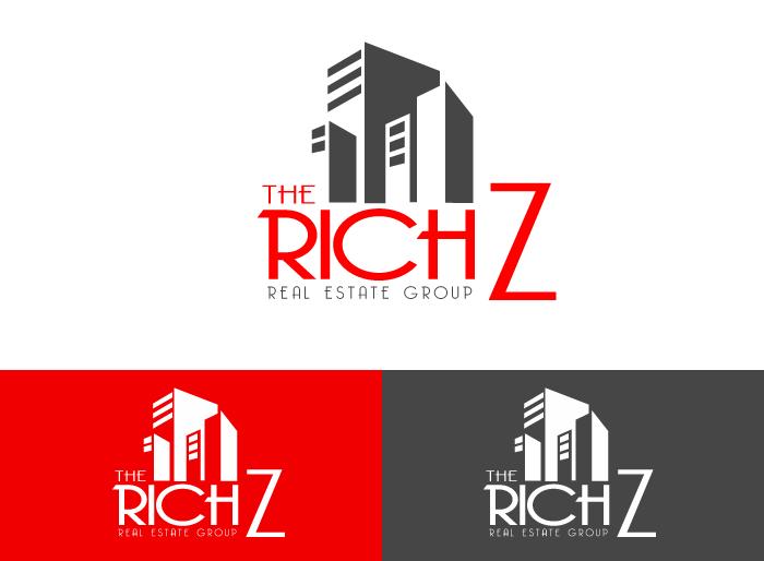 Logo Design by Jan Chua - Entry No. 422 in the Logo Design Contest The Rich Z. Real Estate Group Logo Design.