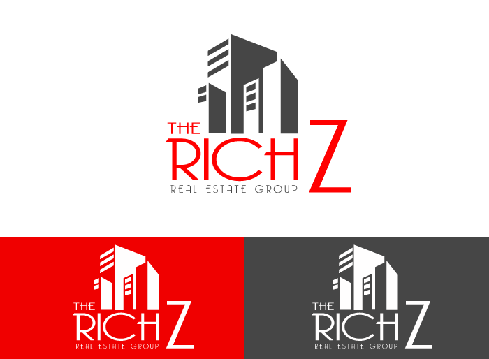 Logo Design by Jan Chua - Entry No. 423 in the Logo Design Contest The Rich Z. Real Estate Group Logo Design.