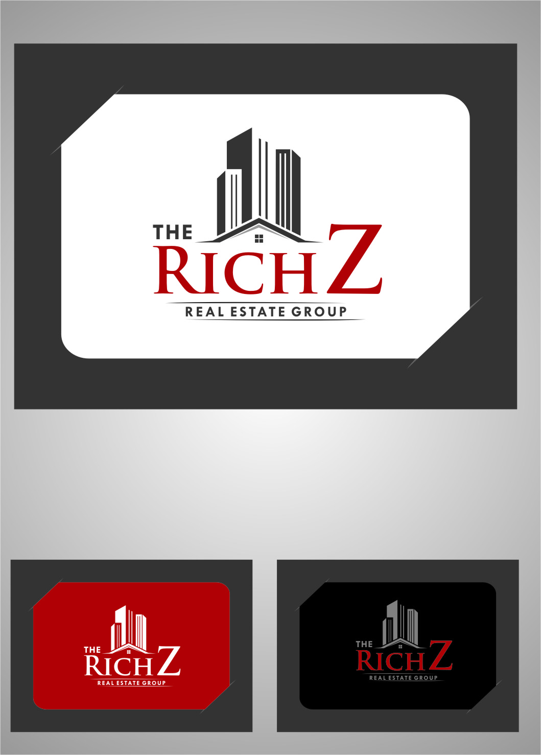 Logo Design by RasYa Muhammad Athaya - Entry No. 424 in the Logo Design Contest The Rich Z. Real Estate Group Logo Design.
