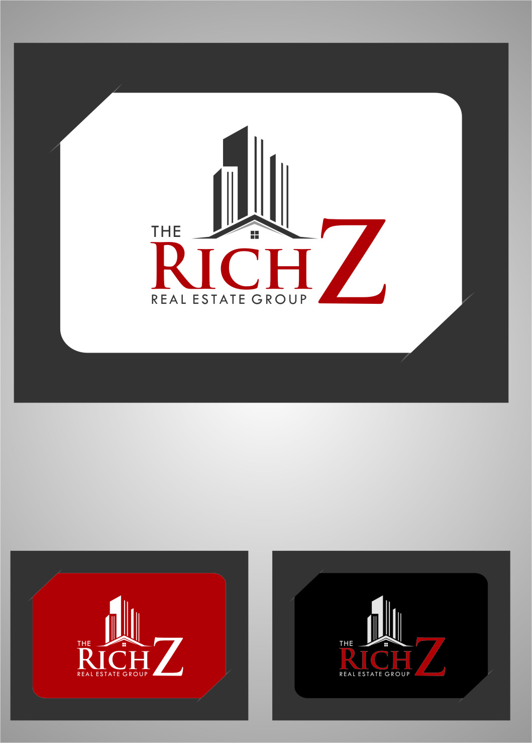 Logo Design by RasYa Muhammad Athaya - Entry No. 425 in the Logo Design Contest The Rich Z. Real Estate Group Logo Design.