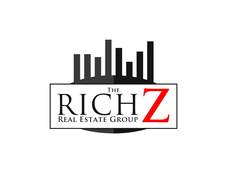 Logo Design by Juan_Kata - Entry No. 429 in the Logo Design Contest The Rich Z. Real Estate Group Logo Design.