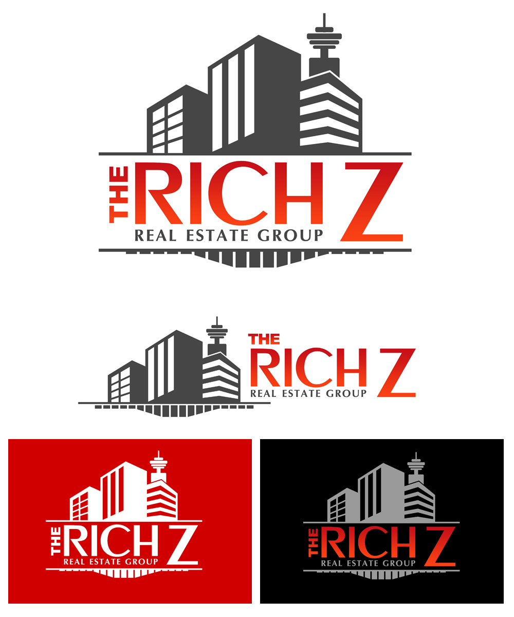 Logo Design by Private User - Entry No. 430 in the Logo Design Contest The Rich Z. Real Estate Group Logo Design.