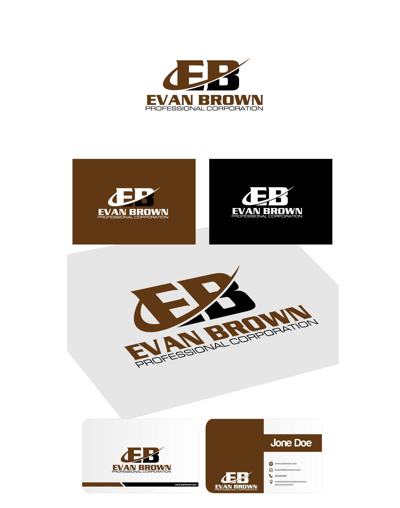 Logo Design by Private User - Entry No. 179 in the Logo Design Contest Inspiring Logo Design for Evan Brown Professional Corporation.