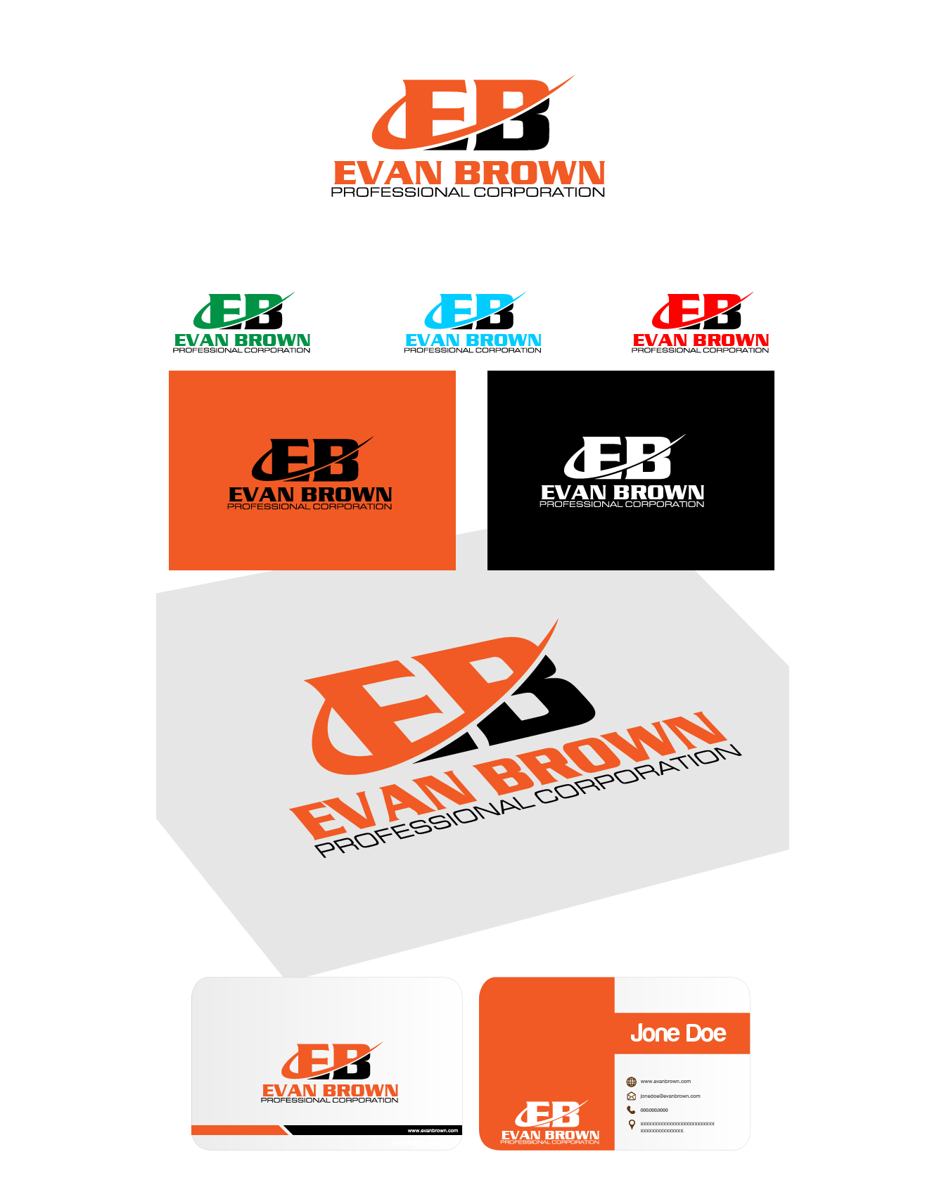 Logo Design by Private User - Entry No. 180 in the Logo Design Contest Inspiring Logo Design for Evan Brown Professional Corporation.