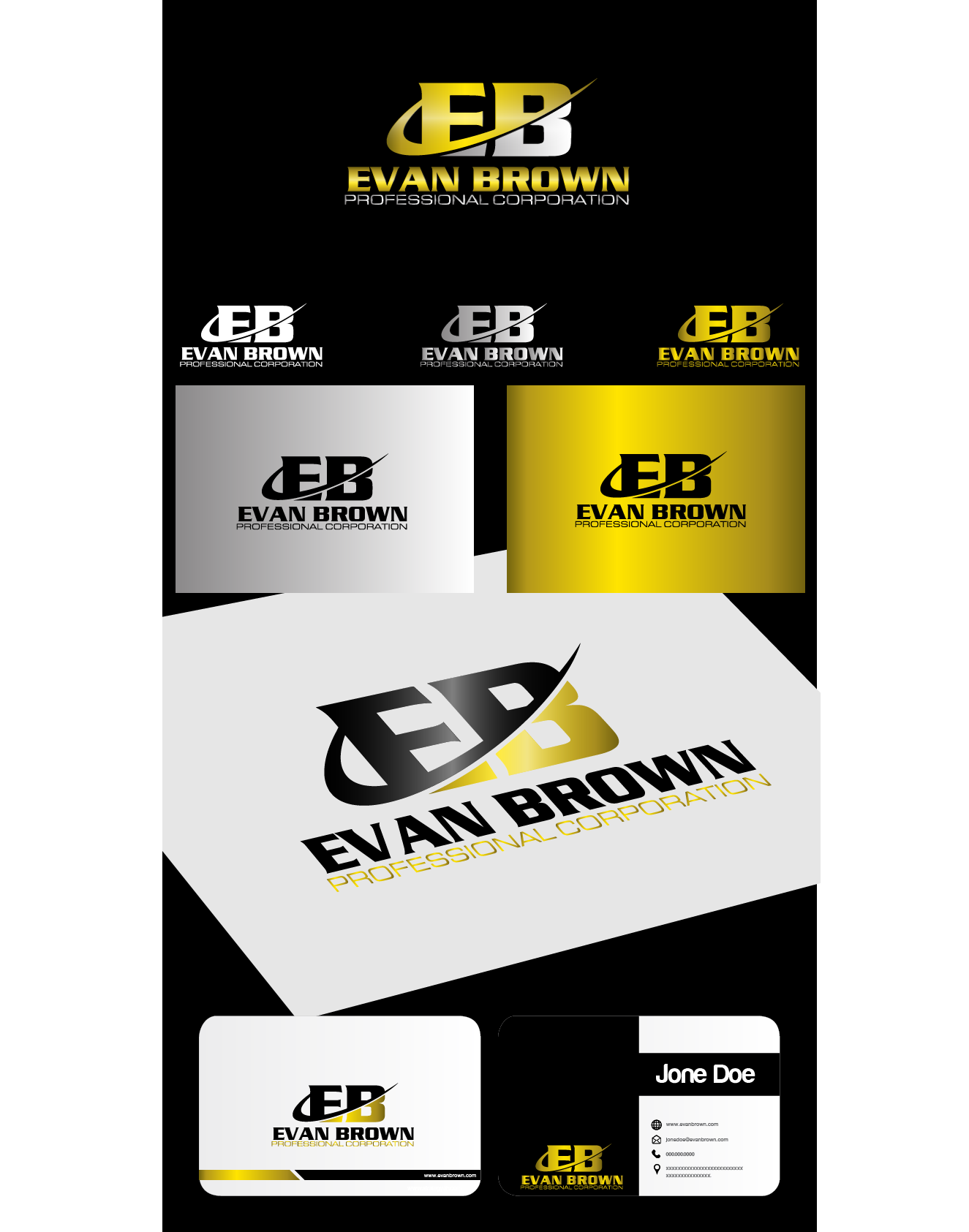 Logo Design by Private User - Entry No. 181 in the Logo Design Contest Inspiring Logo Design for Evan Brown Professional Corporation.