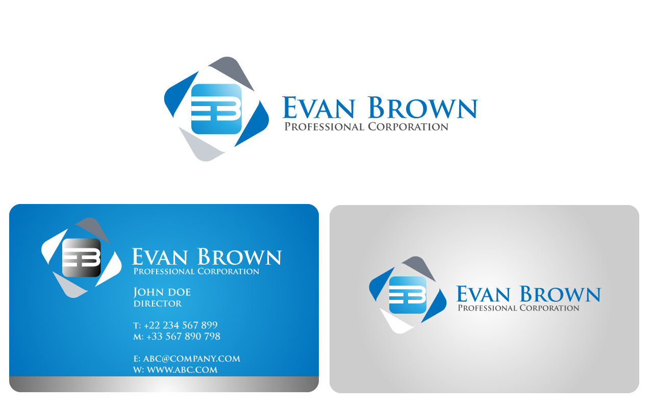 Logo Design by Jagdeep Singh - Entry No. 184 in the Logo Design Contest Inspiring Logo Design for Evan Brown Professional Corporation.