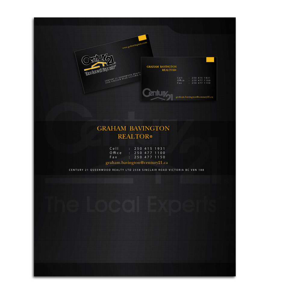 Business Card Design by aesthetic-art - Entry No. 19 in the Business Card Design Contest Real Estate Business Card and Stationery.
