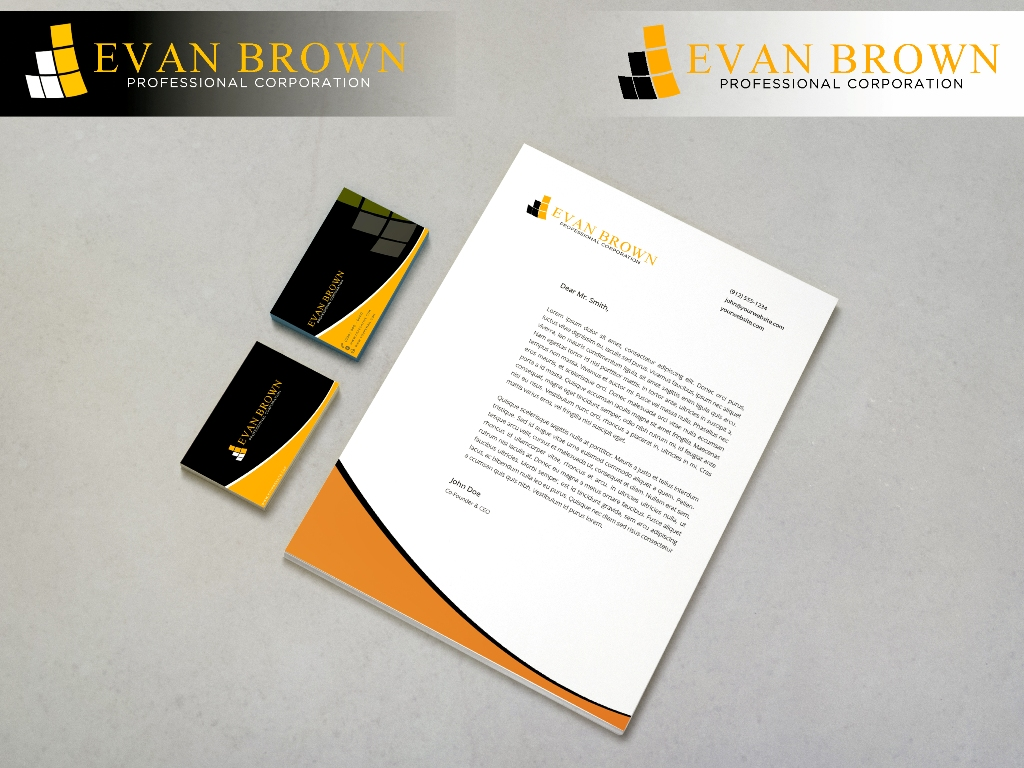 Logo Design by Juan_Kata - Entry No. 195 in the Logo Design Contest Inspiring Logo Design for Evan Brown Professional Corporation.