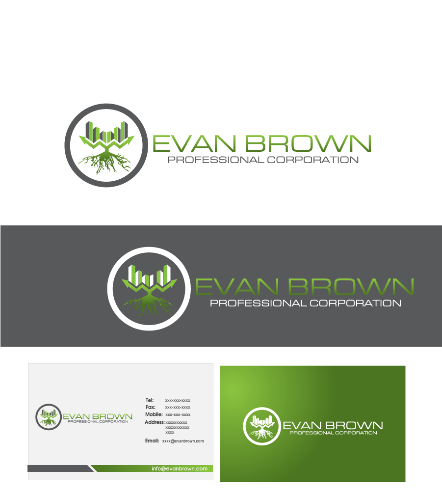 Logo Design by Private User - Entry No. 209 in the Logo Design Contest Inspiring Logo Design for Evan Brown Professional Corporation.