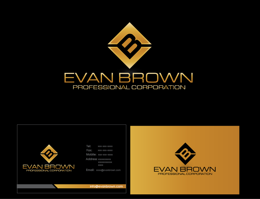 Logo Design by Private User - Entry No. 211 in the Logo Design Contest Inspiring Logo Design for Evan Brown Professional Corporation.