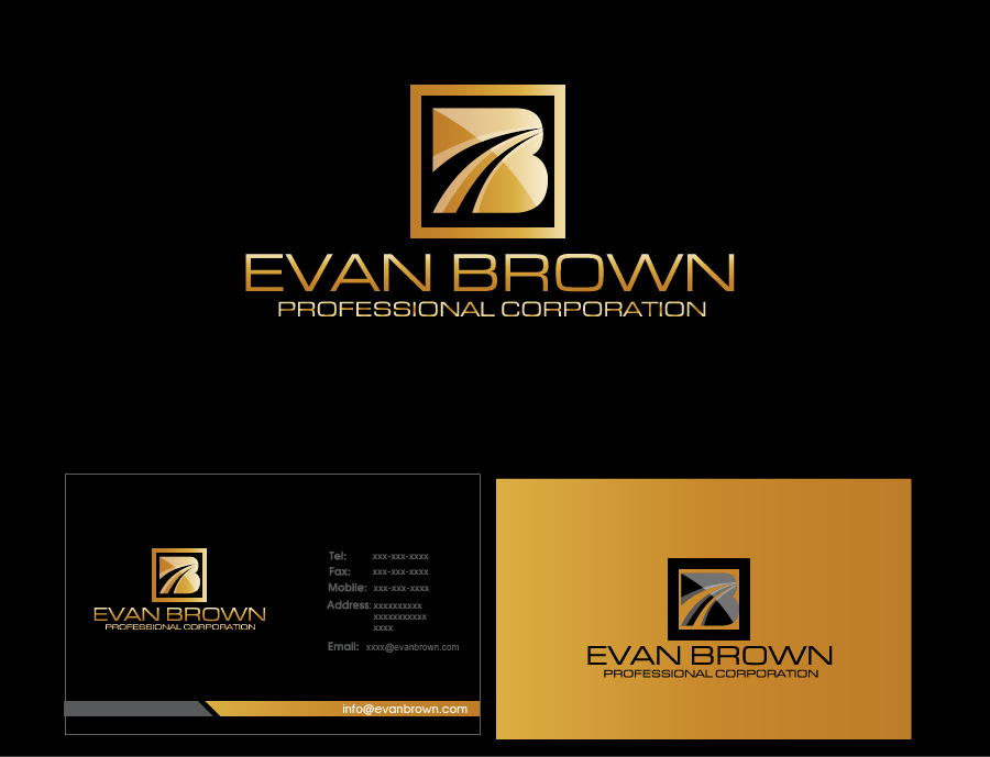 Logo Design by Private User - Entry No. 214 in the Logo Design Contest Inspiring Logo Design for Evan Brown Professional Corporation.