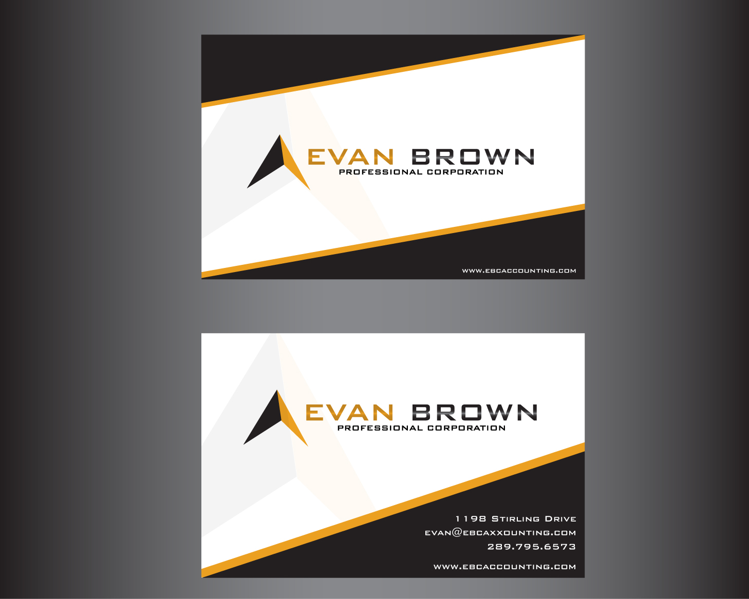Logo Design by rA - Entry No. 216 in the Logo Design Contest Inspiring Logo Design for Evan Brown Professional Corporation.