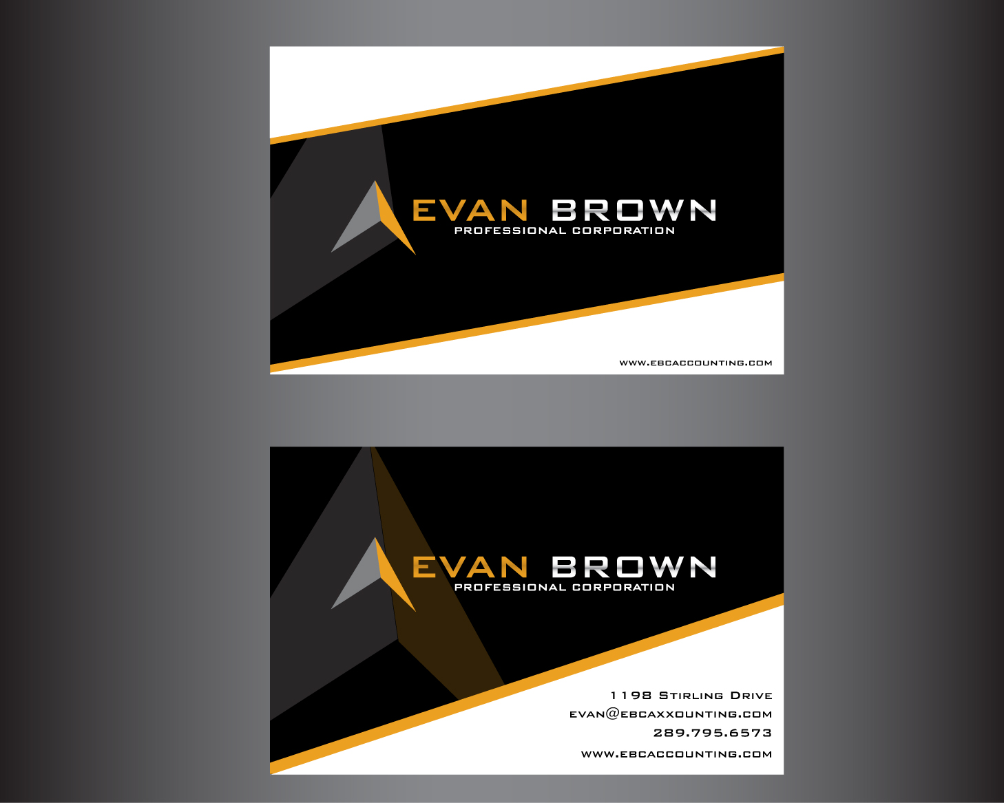 Logo Design by rA - Entry No. 217 in the Logo Design Contest Inspiring Logo Design for Evan Brown Professional Corporation.