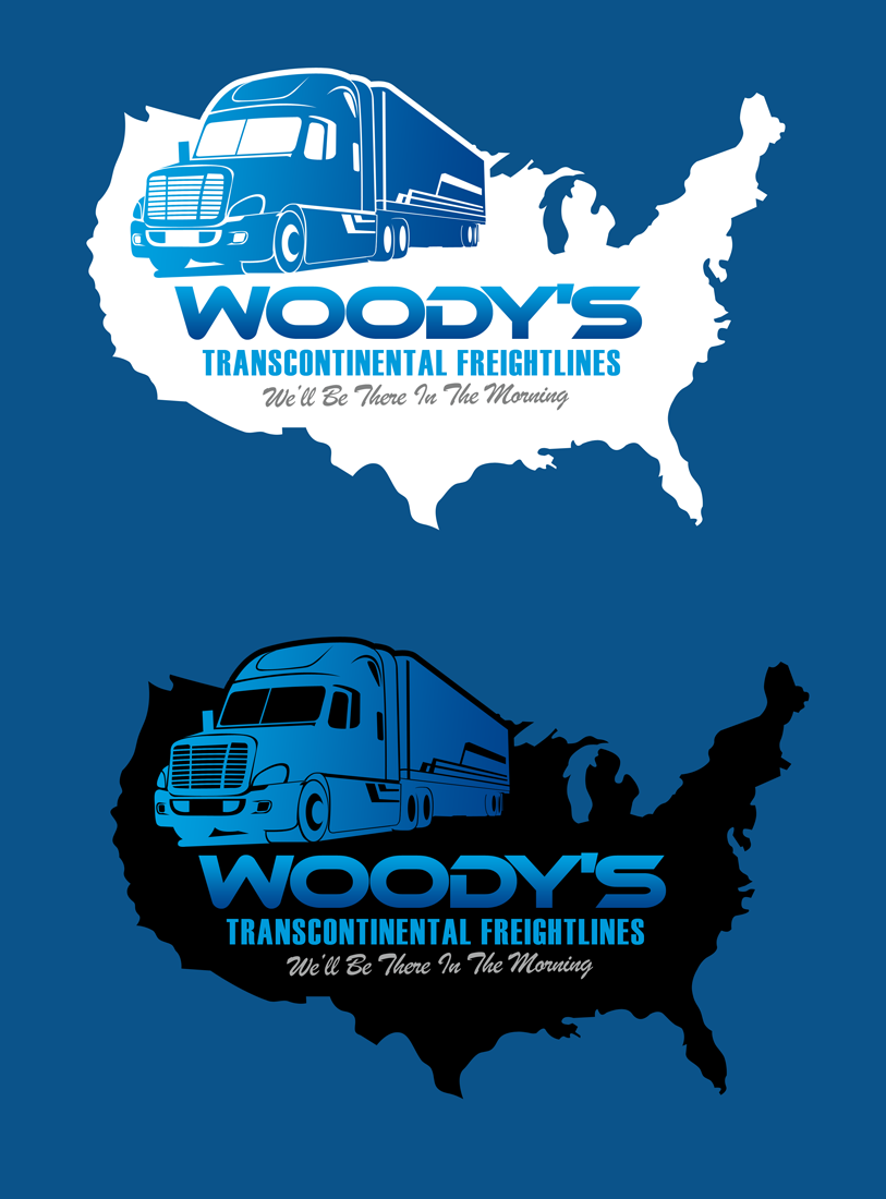 Logo Design by Private User - Entry No. 11 in the Logo Design Contest Creative Logo Design for Woody's Transcontinental Freightlines.