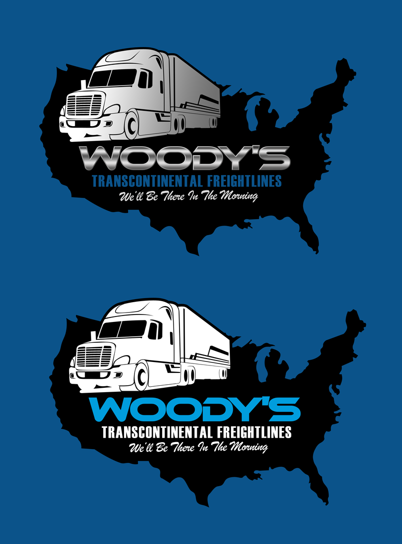 Logo Design by Private User - Entry No. 12 in the Logo Design Contest Creative Logo Design for Woody's Transcontinental Freightlines.