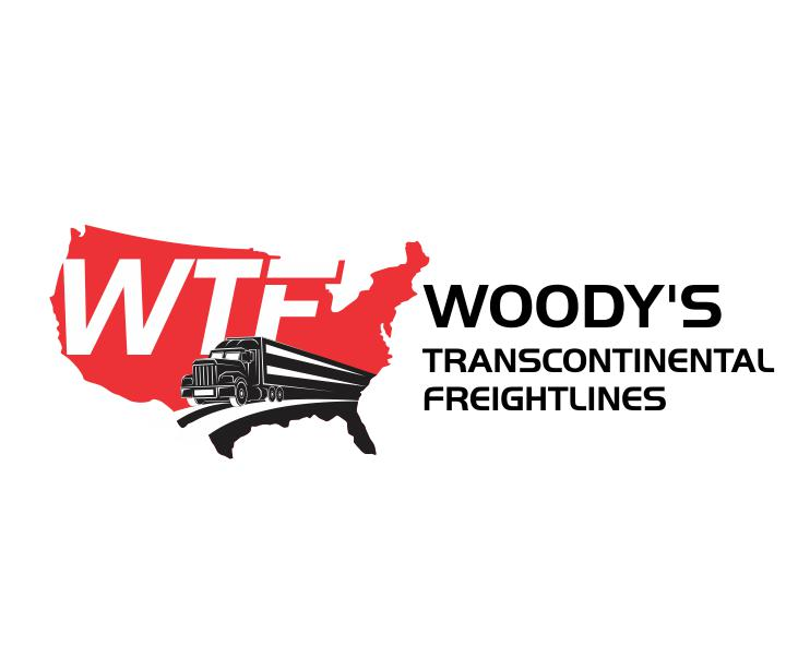 Logo Design by ronny - Entry No. 13 in the Logo Design Contest Creative Logo Design for Woody's Transcontinental Freightlines.