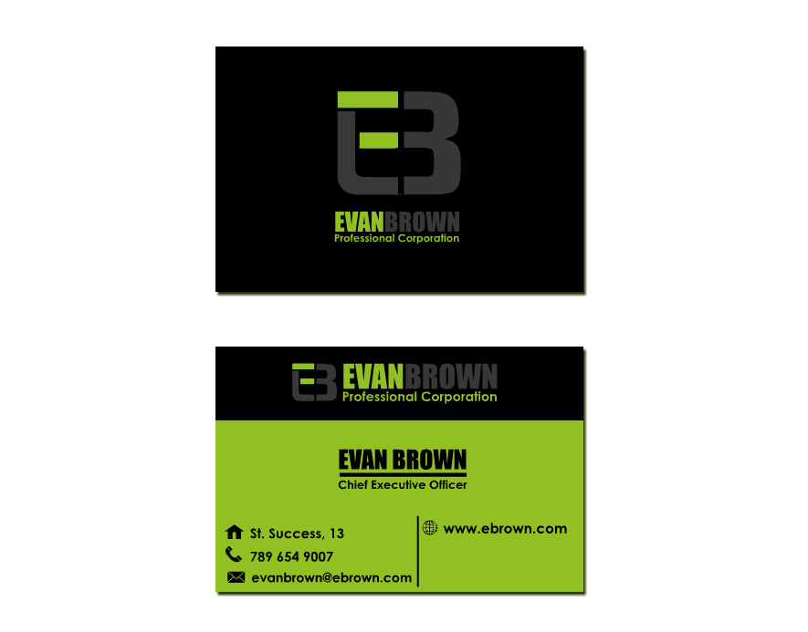 Logo Design by Ismail Adhi Wibowo - Entry No. 224 in the Logo Design Contest Inspiring Logo Design for Evan Brown Professional Corporation.