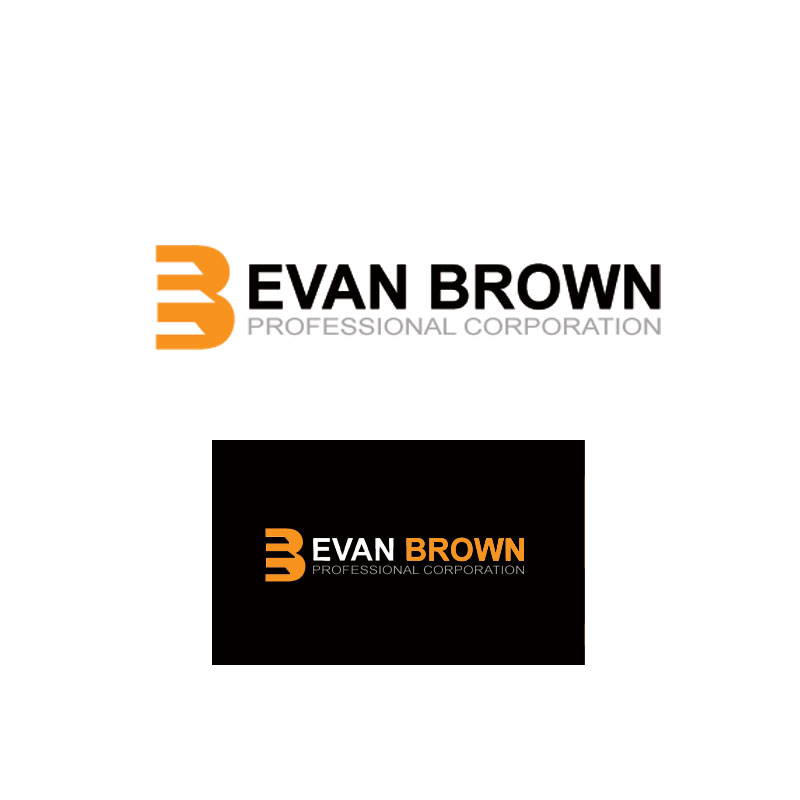 Logo Design by Private User - Entry No. 230 in the Logo Design Contest Inspiring Logo Design for Evan Brown Professional Corporation.