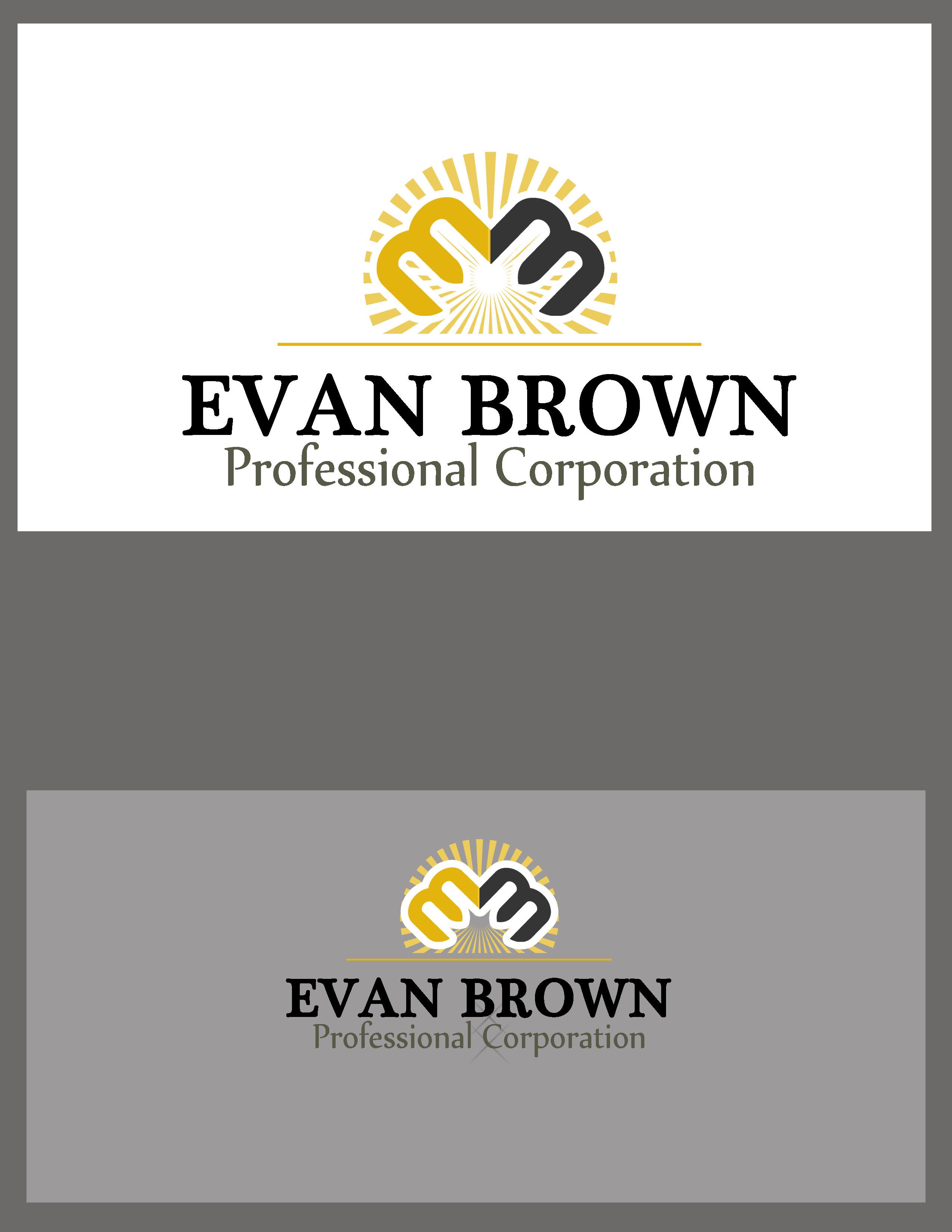 Logo Design by Allan Esclamado - Entry No. 232 in the Logo Design Contest Inspiring Logo Design for Evan Brown Professional Corporation.