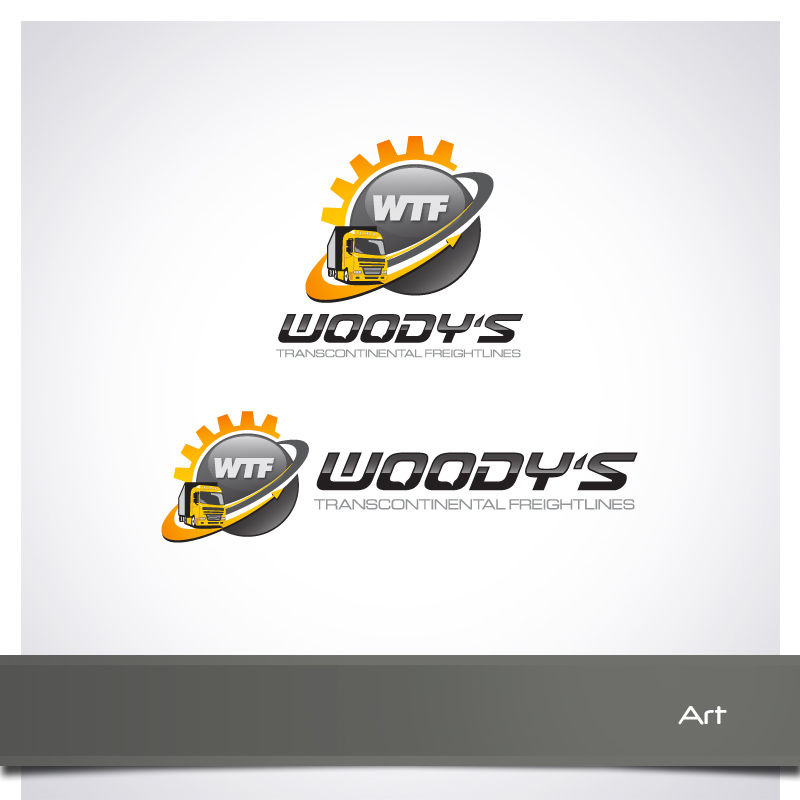 Logo Design by Puspita Wahyuni - Entry No. 26 in the Logo Design Contest Creative Logo Design for Woody's Transcontinental Freightlines.