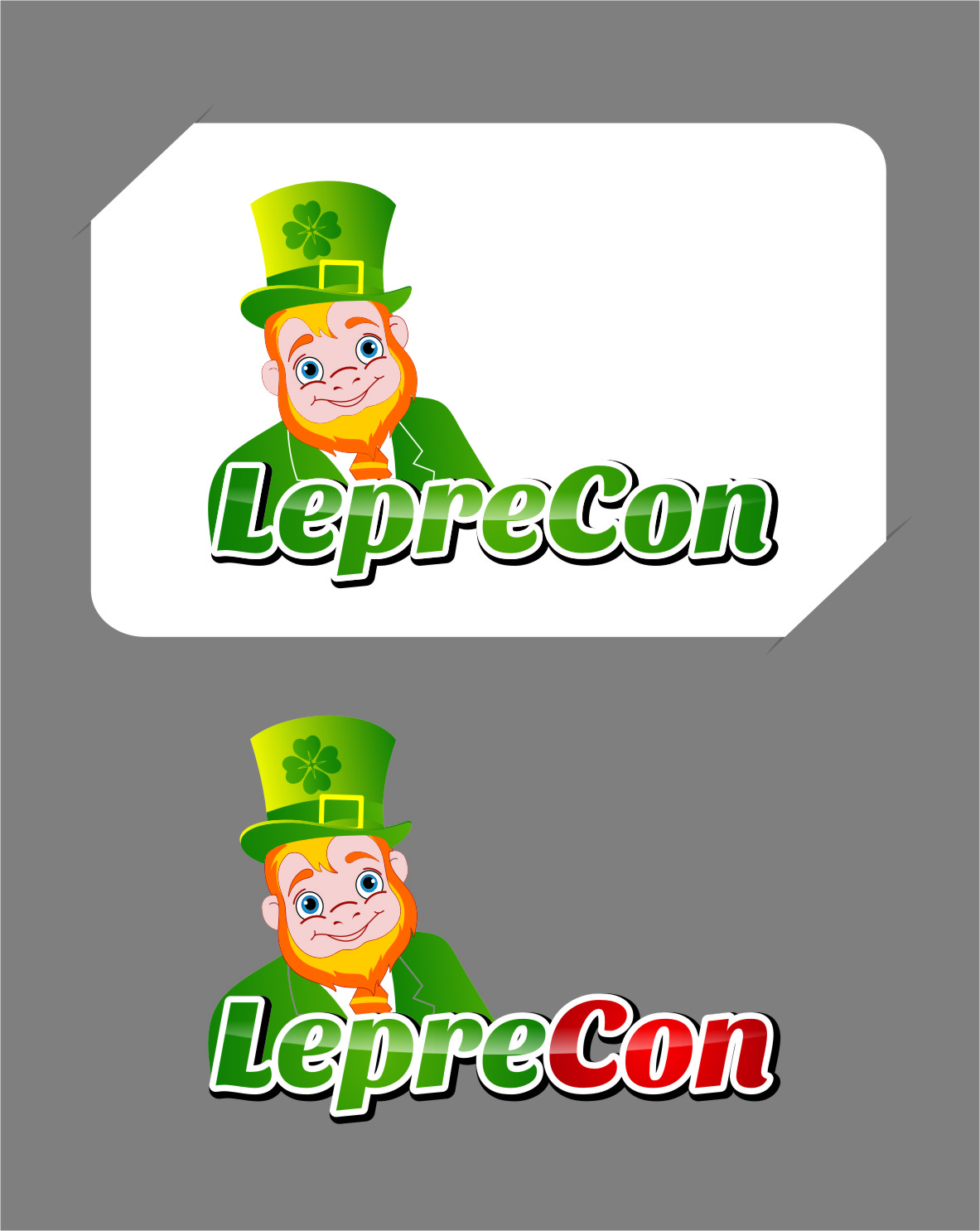 Logo Design by RasYa Muhammad Athaya - Entry No. 74 in the Logo Design Contest FUN Logo Design for *LepreCon* St. Patrick's Event [WILL END EARLY JAN. 26].