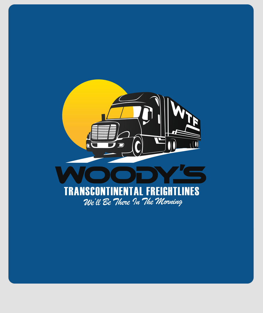 Logo Design by Private User - Entry No. 30 in the Logo Design Contest Creative Logo Design for Woody's Transcontinental Freightlines.