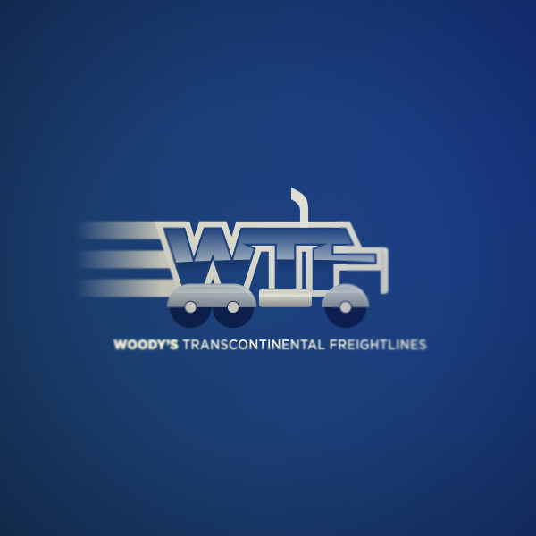Logo Design by Private User - Entry No. 33 in the Logo Design Contest Creative Logo Design for Woody's Transcontinental Freightlines.