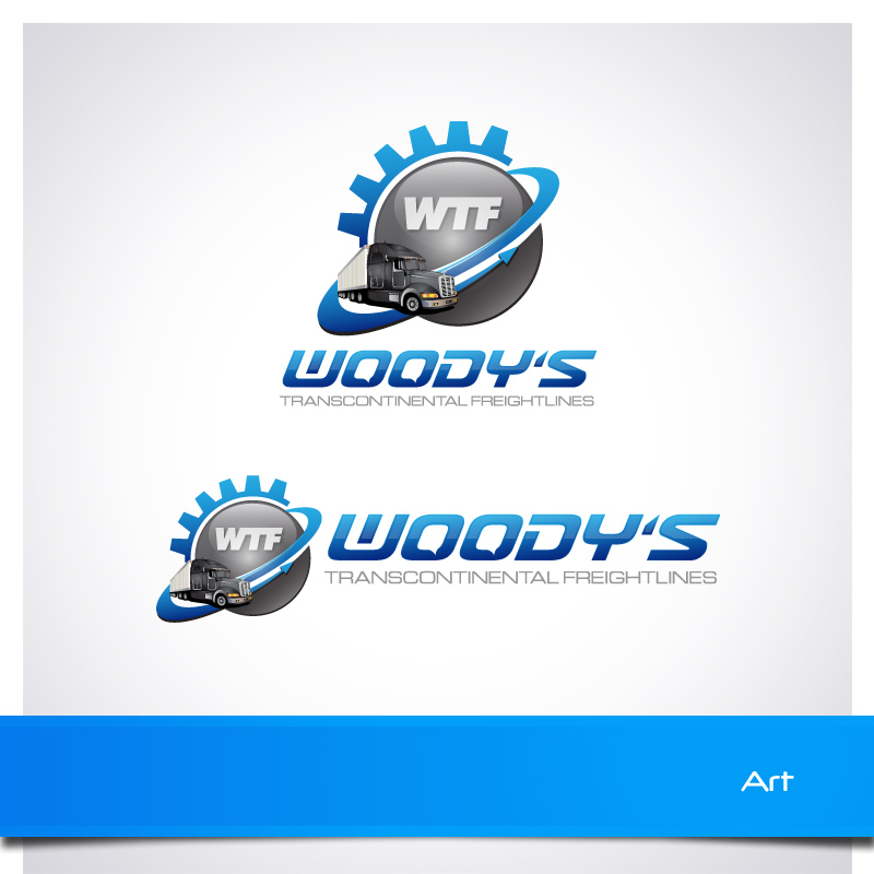 Logo Design by Puspita Wahyuni - Entry No. 34 in the Logo Design Contest Creative Logo Design for Woody's Transcontinental Freightlines.