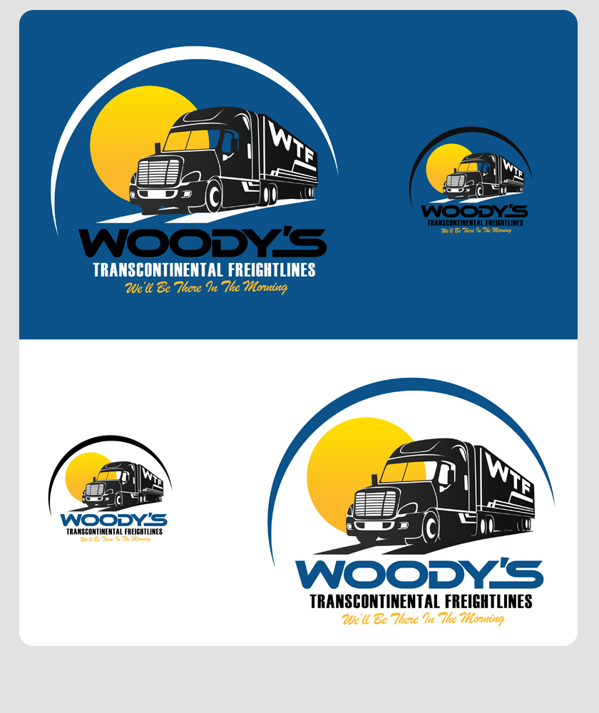 Logo Design by Private User - Entry No. 36 in the Logo Design Contest Creative Logo Design for Woody's Transcontinental Freightlines.