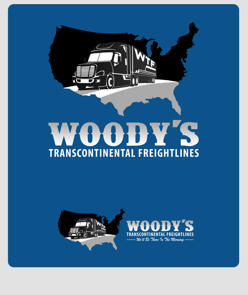 Logo Design by Private User - Entry No. 37 in the Logo Design Contest Creative Logo Design for Woody's Transcontinental Freightlines.