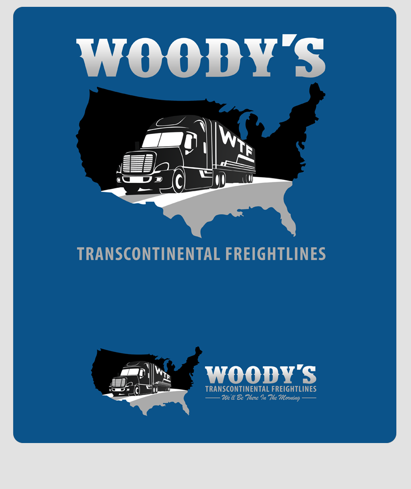 Logo Design by Private User - Entry No. 38 in the Logo Design Contest Creative Logo Design for Woody's Transcontinental Freightlines.