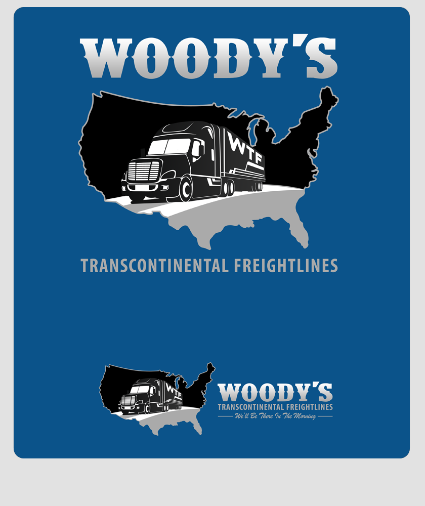 Logo Design by Private User - Entry No. 39 in the Logo Design Contest Creative Logo Design for Woody's Transcontinental Freightlines.