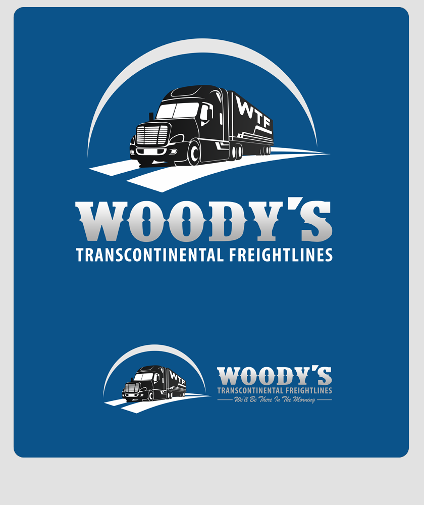 Logo Design by Private User - Entry No. 42 in the Logo Design Contest Creative Logo Design for Woody's Transcontinental Freightlines.