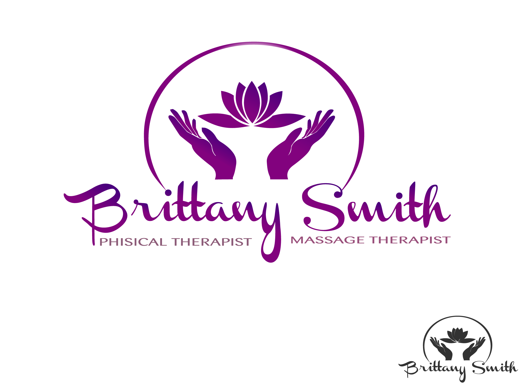Logo Design by Maninder pal Singh - Entry No. 42 in the Logo Design Contest Artistic Logo Design for my personal massage therapy business.