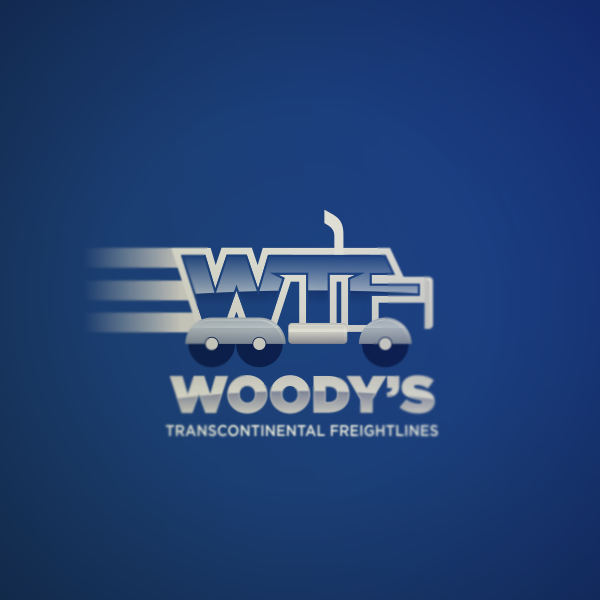 Logo Design by Private User - Entry No. 47 in the Logo Design Contest Creative Logo Design for Woody's Transcontinental Freightlines.