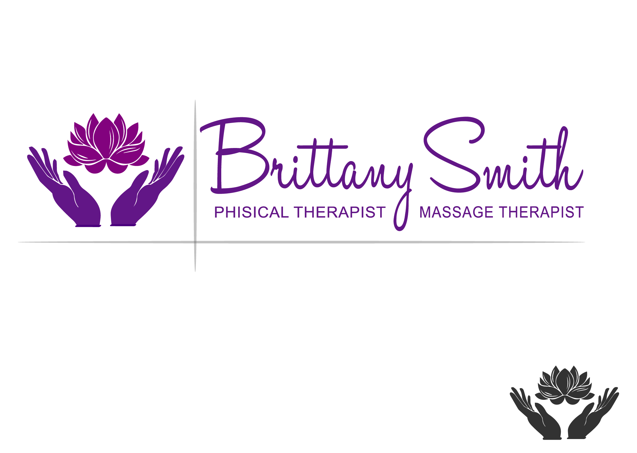 Logo Design by Maninder pal Singh - Entry No. 45 in the Logo Design Contest Artistic Logo Design for my personal massage therapy business.