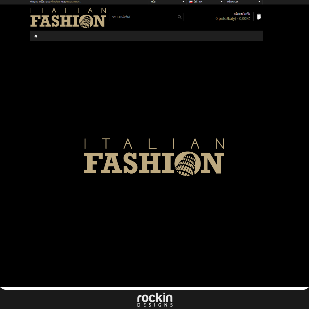 Logo Design by rockin - Entry No. 6 in the Logo Design Contest Logo for Web Page ItalianFashion.cz.