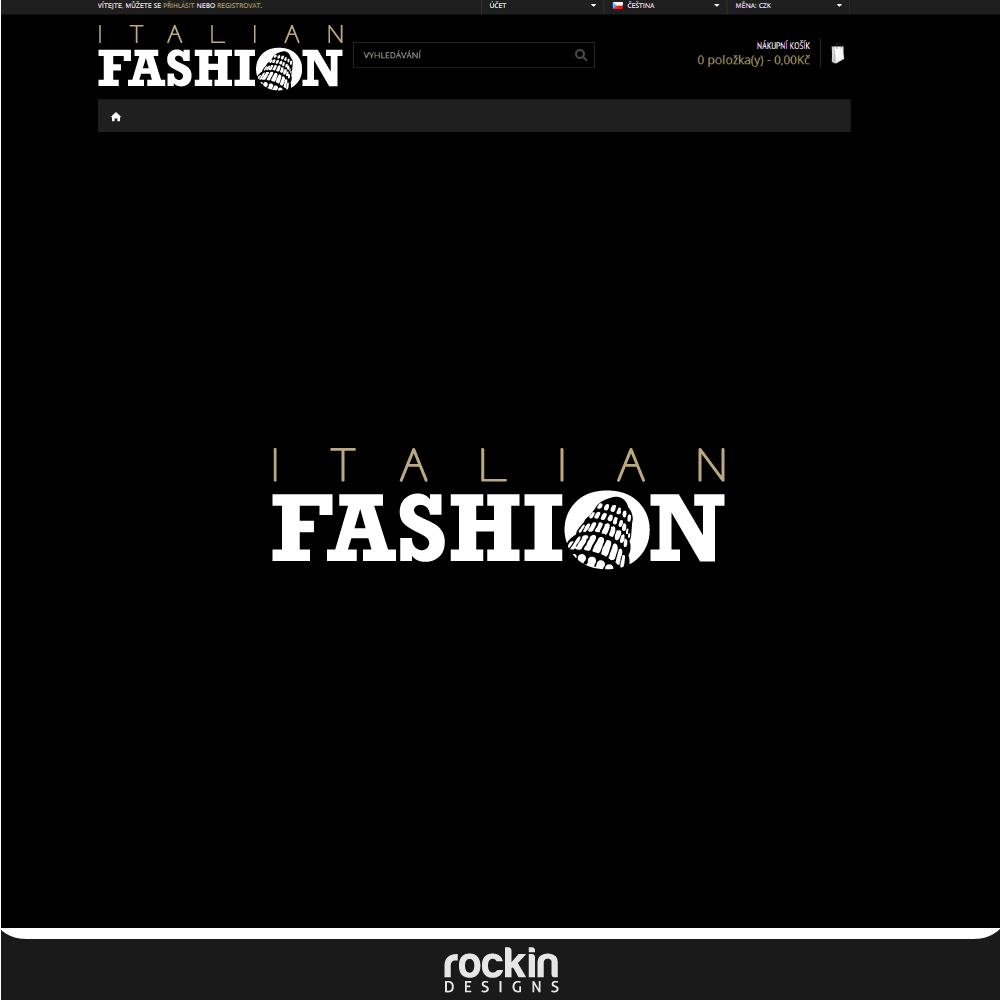 Logo Design by rockin - Entry No. 7 in the Logo Design Contest Logo for Web Page ItalianFashion.cz.